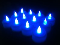 Kytes India Tealights Candle (Blue, Pack Of 12)