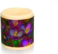 Silverlight Lavender Scented Designer Pillar Candle (Multicolor, Pack Of 1)