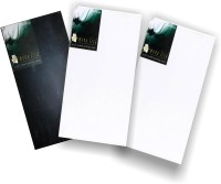 Mona Lisa Long Cotton Fine Grain Primed Canvas Board (Set Of 3) (White, Black)
