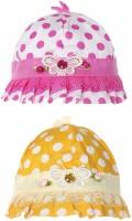 Littly Polka Print Designer Baby Cap (Pack Of 2)