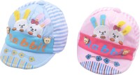 Kandyfloss Designer Cartoon Baby Cap (Pack Of 2)