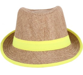 Sushito Solid Brown Fedora Cap