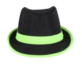 Sushito Solid Black Fedora Cap