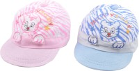 Kandyfloss Designer Cartoon Baby Cap (Pack Of 2) - CAPEHK9G4RZJ9HGK