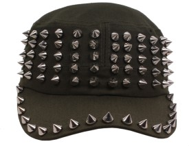 Sushito Solid Studdded Black Dancing Hip Hop Cap