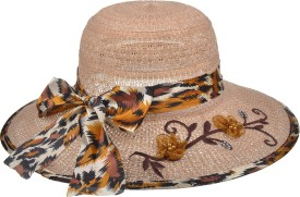 Ice Dragon Floral Print Summer Beach Floppy Hat Cap