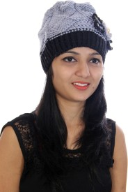 CottonFlake Self Design Skull Cap