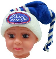 DCS Blue And White Woolen Cap