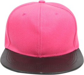 ILU Self Design Pink Leather brim, Snapback, baseball, Hip Hop, Trucker, Hat, Caps Cap