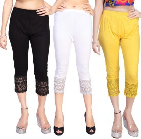 Comix Women's Black, White, Yellow Capri
