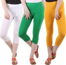 Diaz Women's White, Green, Yellow Capri