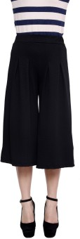 Rampwalk Rampwalk Black Color Cotton Culottes Women's Capri