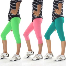 Cotton Flake Combo Pack Of 3 Women's Multicolor Capri