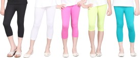 Sinimini Fashion Girl's Reversible Multicolor Capri