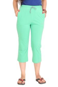 Colors & Blends Cl-102 C. Green Women's Capri