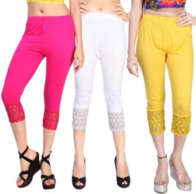 Comix Women's Pink, White, Yellow Capri