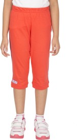 Ocean Race Fashion Girl's Orange Capri