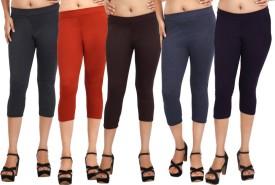 Comix Fashion Women's Black, Orange, Brown, Blue, Purple Capri