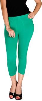 De Moza Viscose Lycra-3/4th Length - Emerald Green Women's Capri