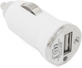 Ample Wings USB Car Mobile Charger White For Samsung Sony HTC Nokia Micromaxx Lava Note2 Desire 826 Smartphones Car Charger (White)
