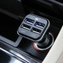 Haweel Universal 6.8A 4 USB Ports Portable Car Charger (Black)