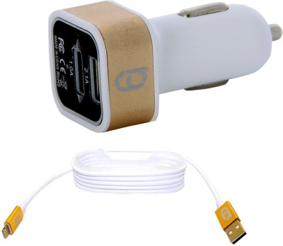 RG 2.1A Dual USB Car Charger (With Cable for iPhone5/6)