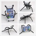 Angelangela Universal Multi-function Portable Spider Flexible Grip Smart Phones GPS Car Bicycle Bike Desk Plane Cup Book Support Cell Mobile Phone (Black)