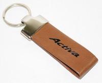 Aura Honda Active Faux Leather Locking Keychain (Brown)