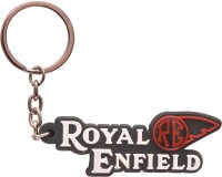 Chainz Royal Enfield RE Silicon Keychain (Black, White, Red)