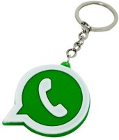 TAG3 High Quality Whatsapp Logo Silicon For Car Bike Key Chain (Green)