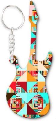 Lolprint 377 Pattern Guitar Key Chain