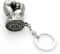 24x7 EMall Key 01 Hulk Silver Locking Key Chain (Silver)