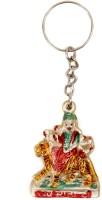 Lehar Toys Acrylic Maa Durga Key Chain Locking (Multi Color)