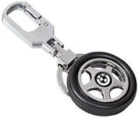CTW BMW Logo Premium Quality Rotating Wheel Tyre Keyring Metal Locking Key Chain (Black)