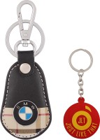 JLT Premium Burberry Design BMW Car Logo Locking Key Chain (Multicolor)