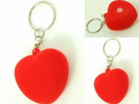 Singh Xpress Combo Of 3 Velvet Heart With Inbuilt Press Whistle - Key Chains - Car And Bike - Fancy - Accessories Plastic Standard Size - - Valentines Special Carabiner (Red)