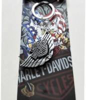 Optimus Traders Motor Harley-Davidson Cycles Letter Logo Metal Keychain Keyring Locking Key Chain (Silver)