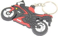 Aura Yamaha Sports Bike Shape Rubber Locking Keychain (Multicolor)