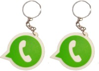 Singh Xpress Fancy WhatsApp Rubber Logo(Pack Of 2) Key Chain (Green-White)