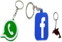 FCS Facebook ,Whatsapp ,Fish Yes Key Chain (Multicolor)