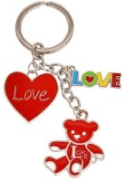 Indigo Creatives Valentine Cute Love Heart Steel Key Chain (Multicolor)