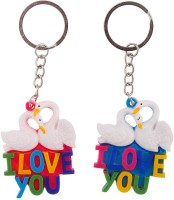 Halowishes Love Bird Key Chain For Your Valentine Key Chain (MultiColour)