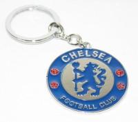 Aura Chelsea Football Club Full Metal Imported Locking Keychain (Blue, Silver)