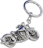 Accedre Designer Bullet Metal Keychain For Car/Bike Curved Gate Carabiner (Chrome)