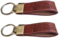 BikeNwear Royal Enfield Keychain (Brown)