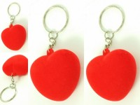 Singh Xpress Combo Of 4 Velvet Heart With Inbuilt Press Whistle - Key Chains - Car And Bike - Fancy - Accessories Plastic Standard Size - Valentines Special Carabiner (Red)
