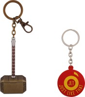 JLT Thor Hammer Gold Metal Premium Locking Key Chain (Multicolor)