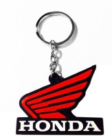 Tech Fashion Honda Red Black Rubber Synthetic Locking Keychain (Red, Black)