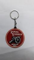 Bike World Royal Enfield Key Chain Rubber Key Chain (White)