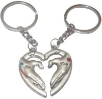 Shopngift Couple Hand Join Key Chain (Silver)